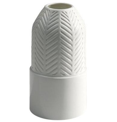 Vase Tisse white glazed porcelain  Vautrin, Delvigne   Vases Textures Collection