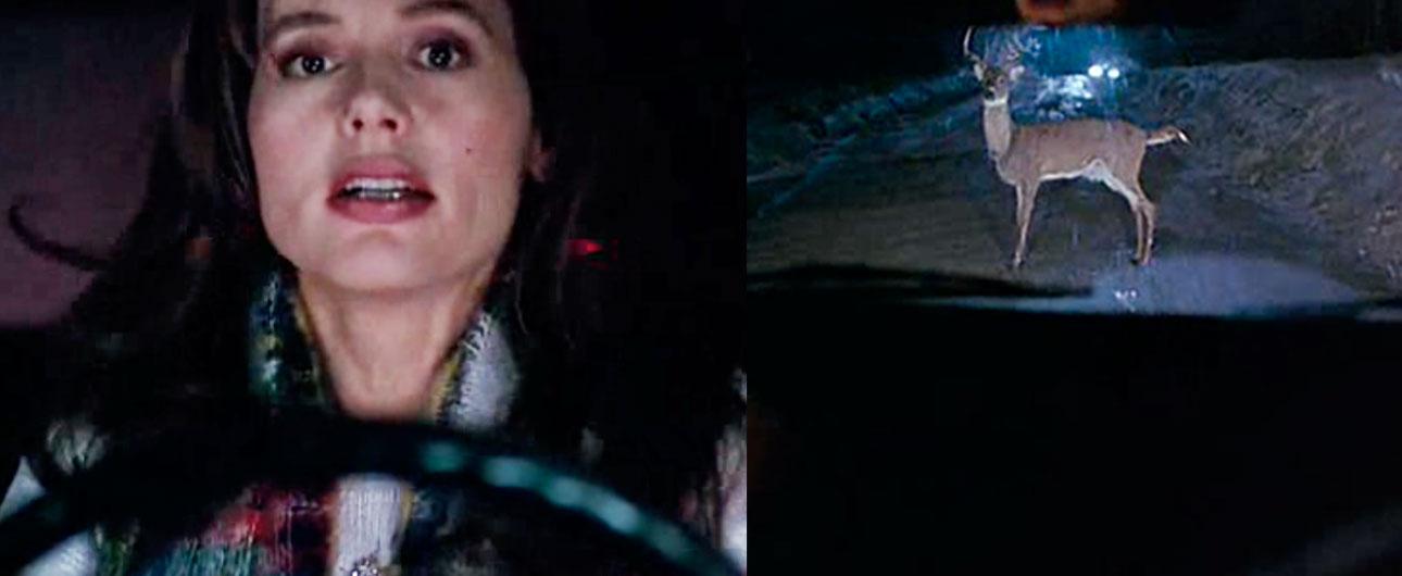 Geena Davis in a sequence using Walter's 'stand up deer'