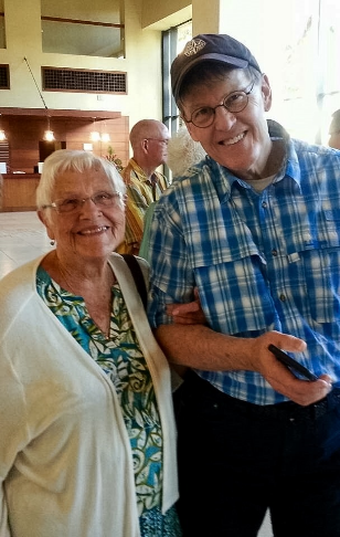 Scotty with Rose-Marie Miller.