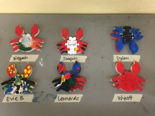 Look at these fanciful painted crabs...