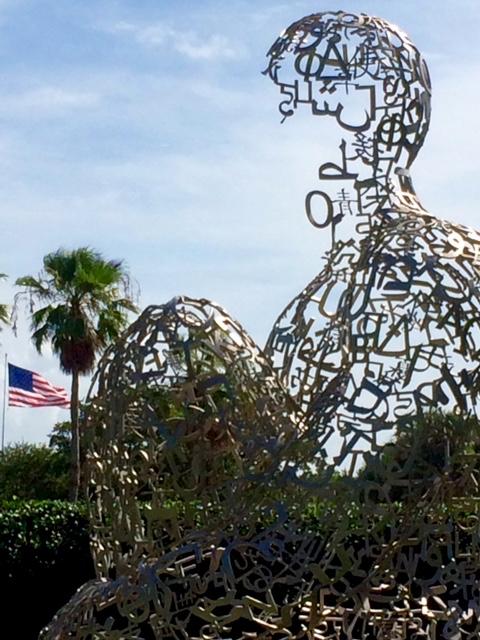 Scene from Vero Beach Museum of Art, Plensa sculpture