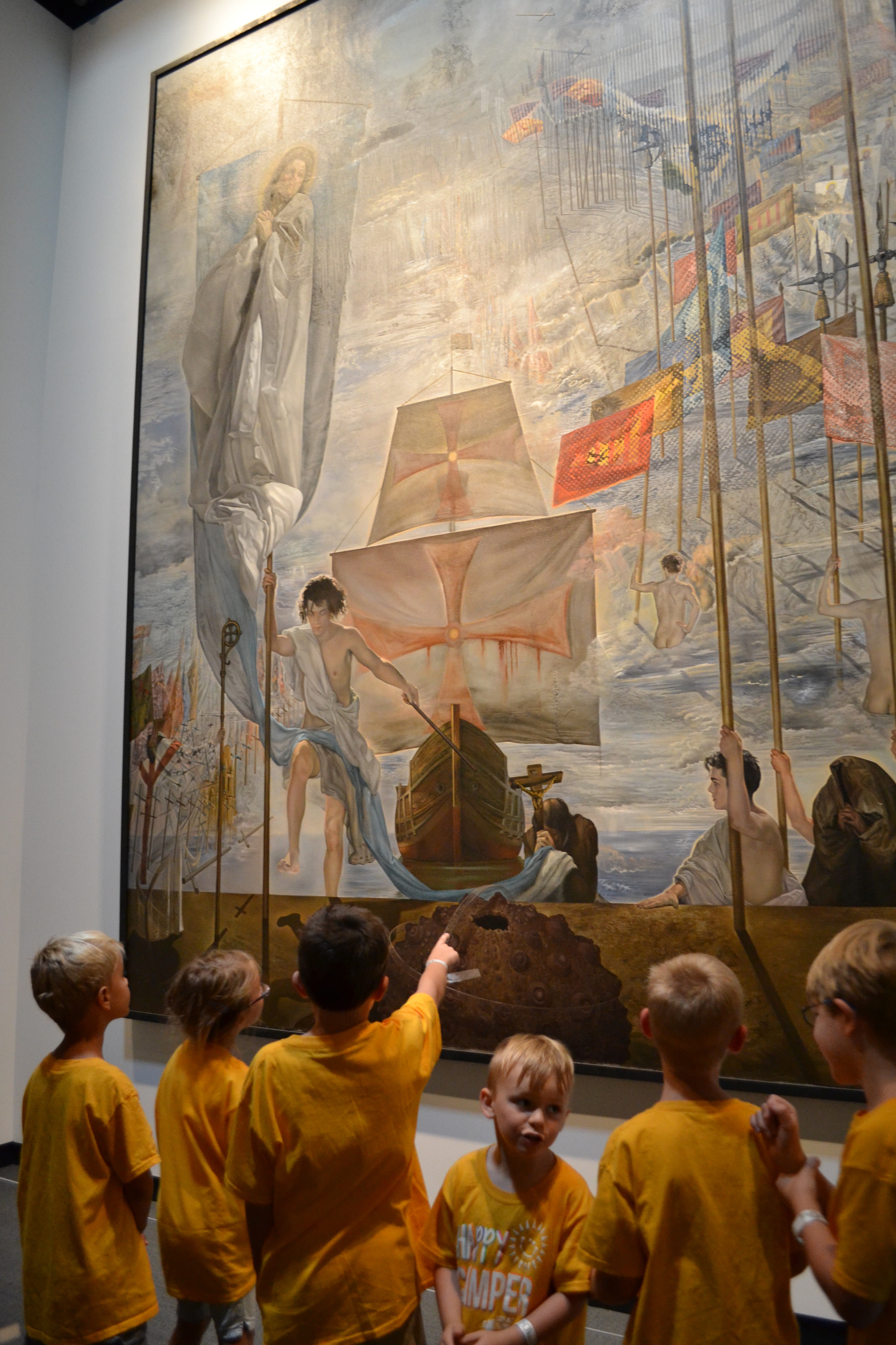 Campers found so much to discover in Dali's The Discovery of America by Christopher Columbus.