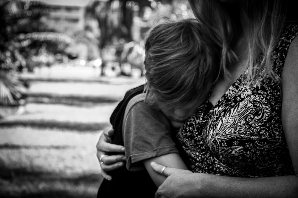 Nothing beats a mother's hug.