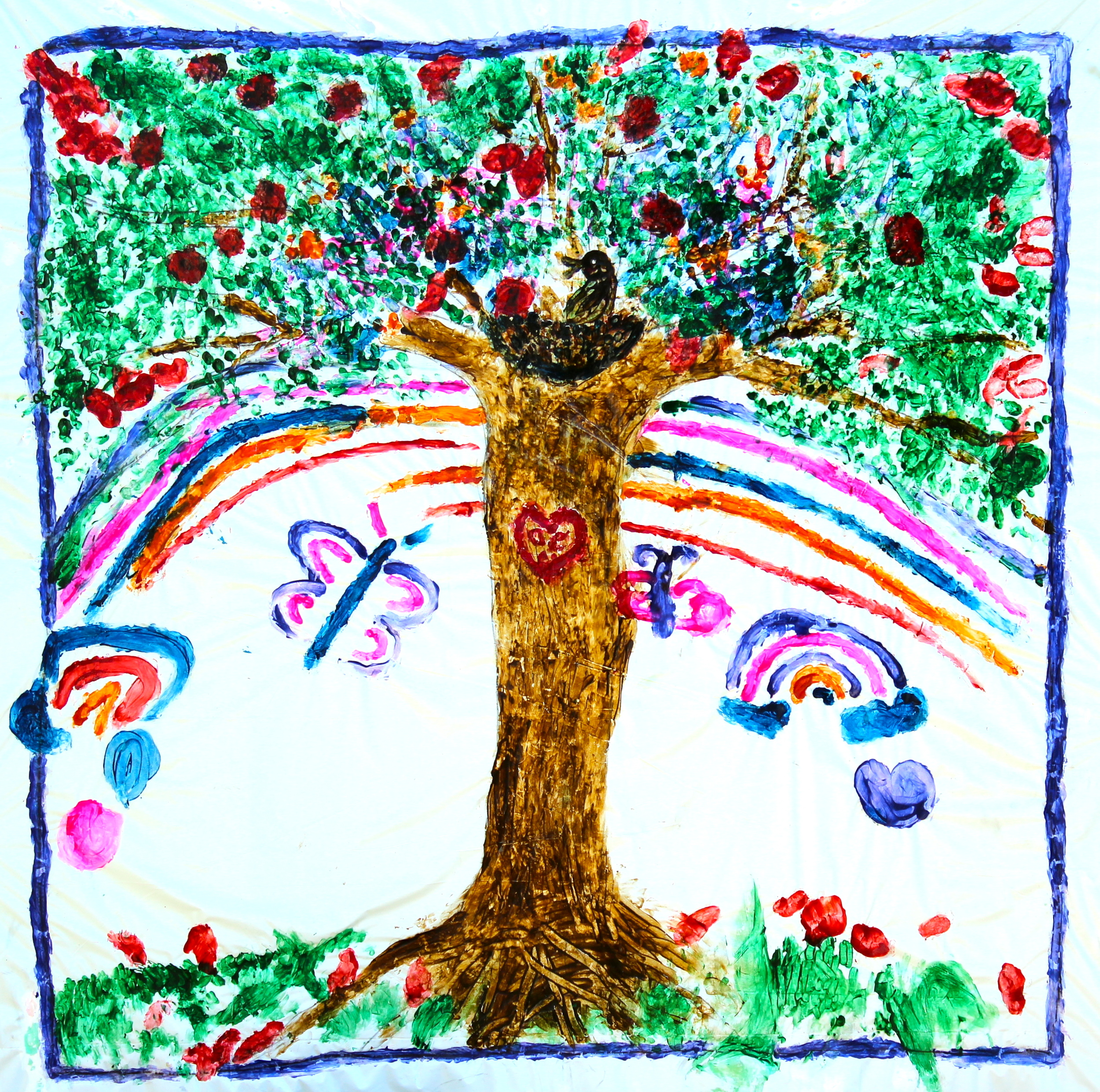 The Magic Tree created by family members of patients at All Children's Hospital, a collaborative project with dancer and choreographer, Paula Kramer.