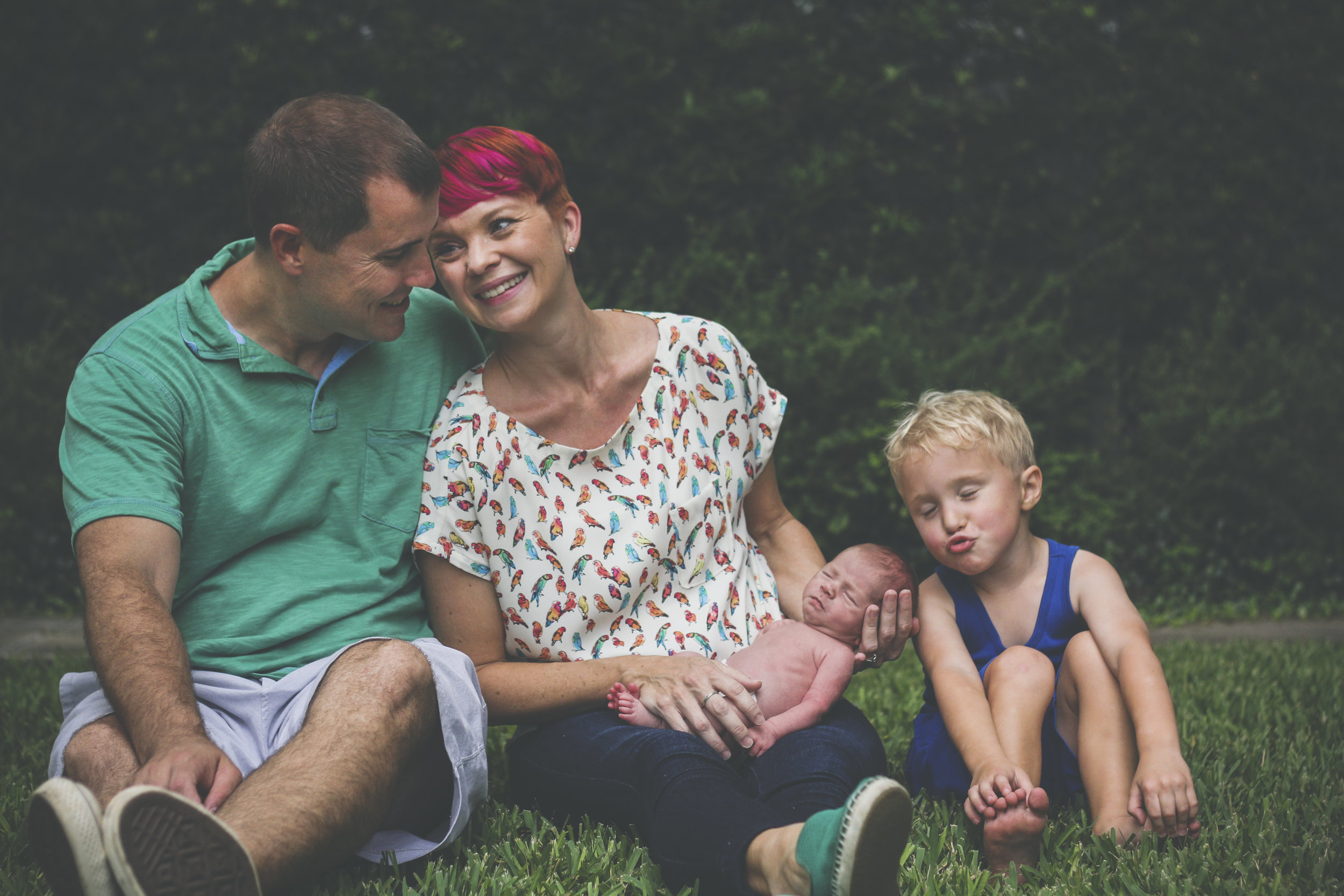 My family, Jon, Isaac, Paxton and I                   Photo by: Charlotte Suarez