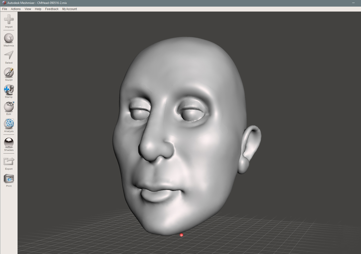 Eyes and ears have been fixed, smooth face imperfections and refine mesh