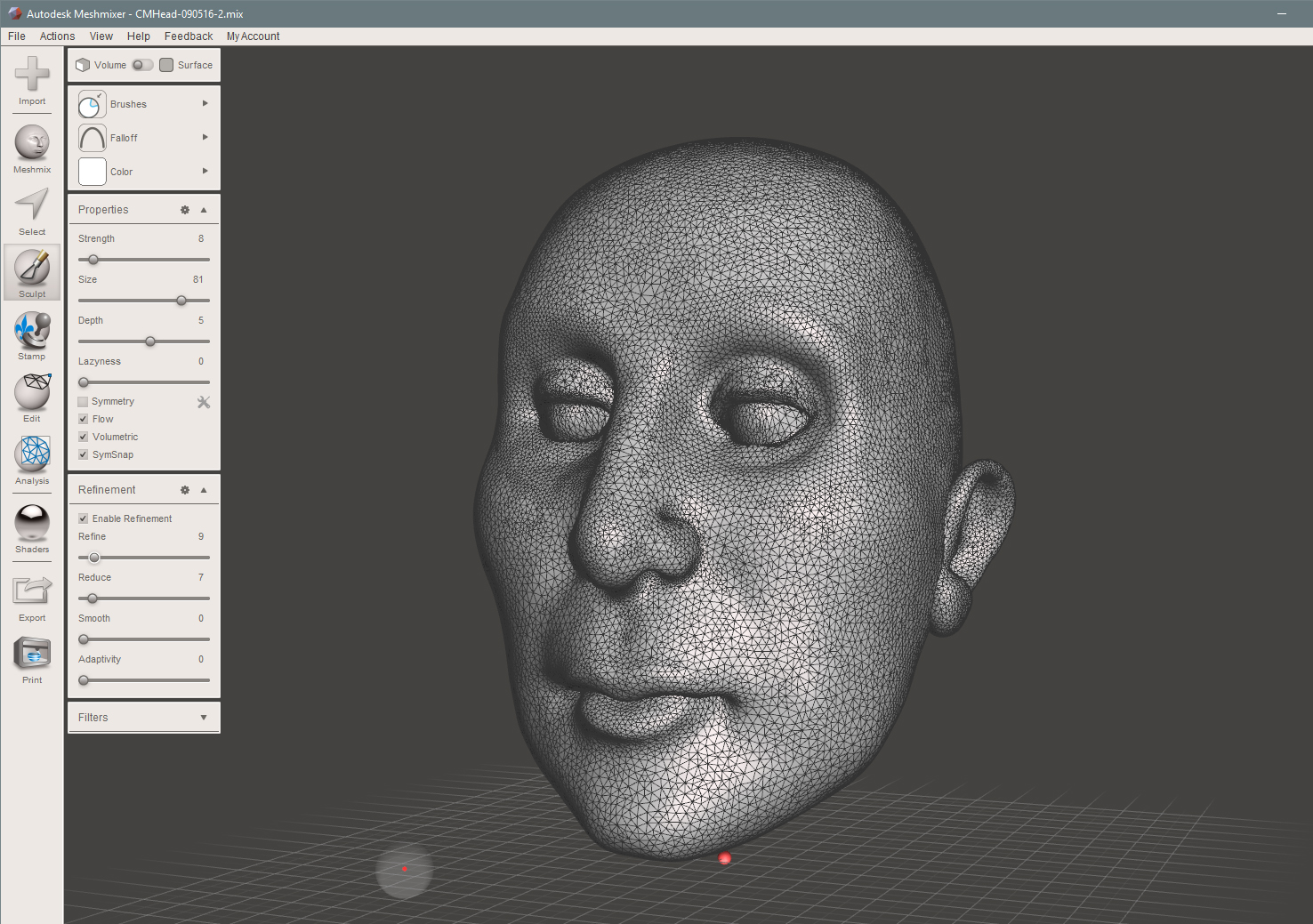 Checking if the Mesh is uniform, too dense will increase slicing and printing process