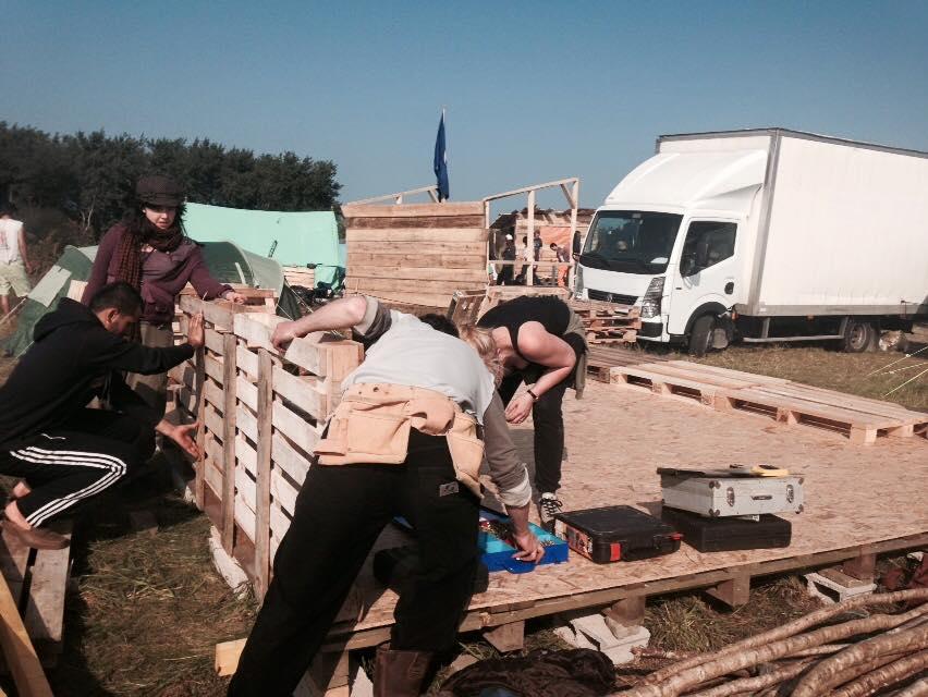Building work in Calais