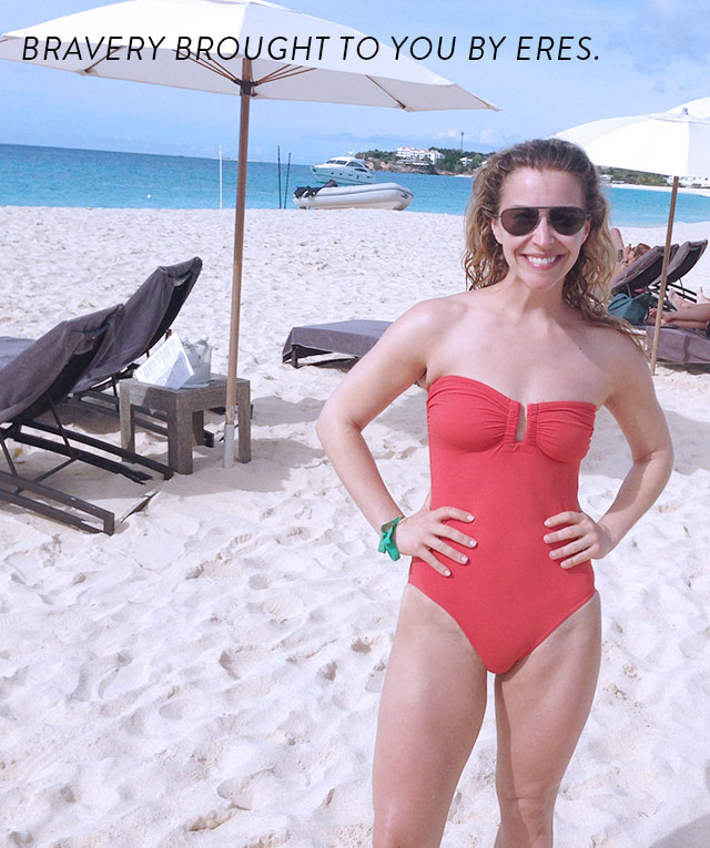 Jenn Falik in Eres Cassiopee Swimsuit