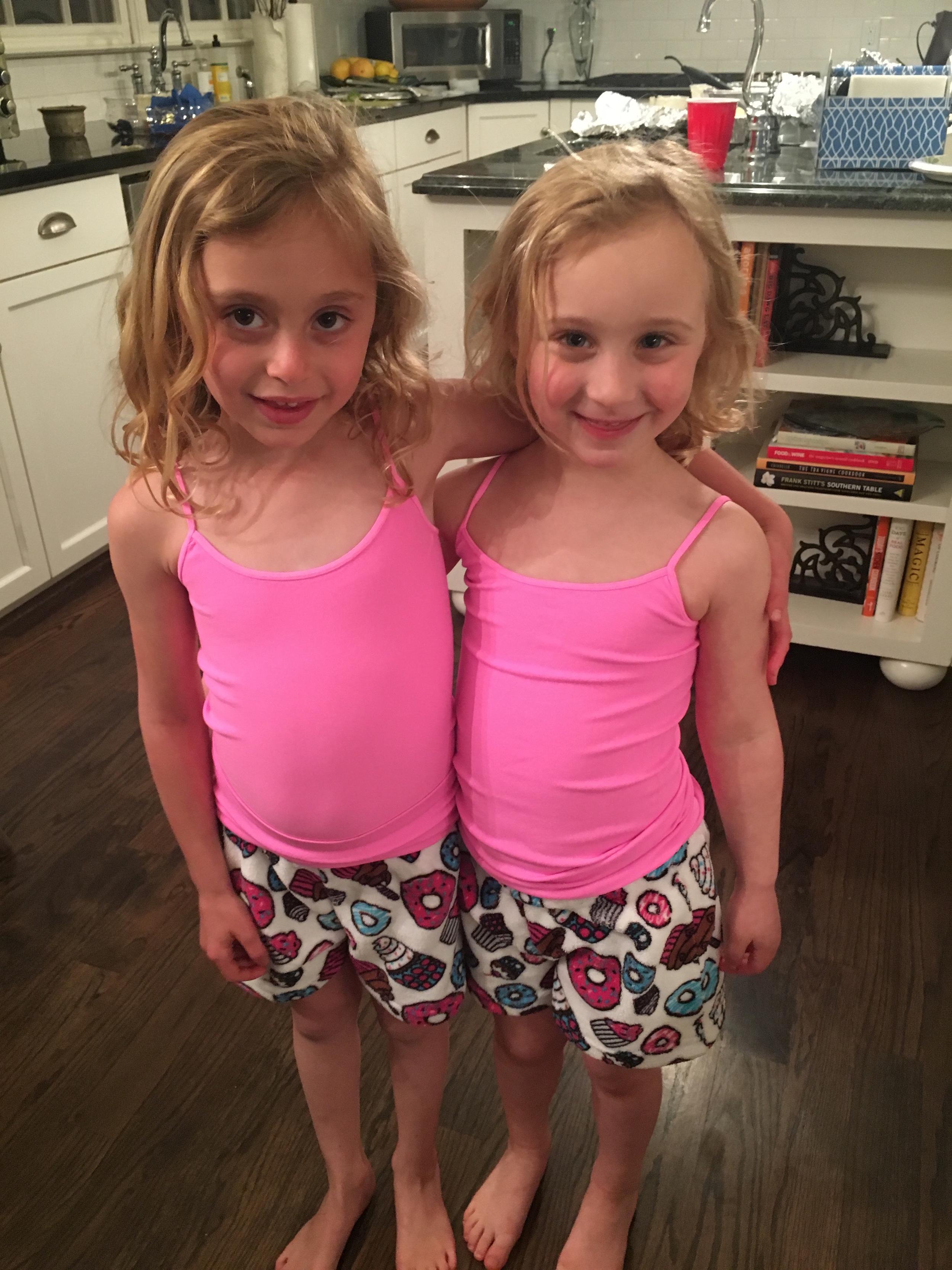 Alexa & Alexa Bond Over Matching PJs.