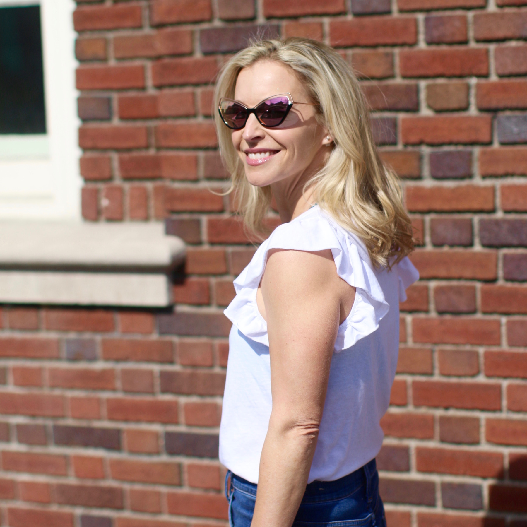 Sunglasses  /  T-Shirt (mine is from  West  and not available online, but similar styles here.)