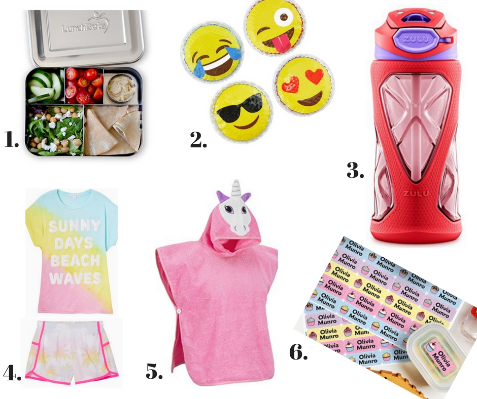 LunchBots  /  Ice Packs  /  Water Bottle  /  Rockets of Awesome clothing  /  Hooded Towel  /  Labels
