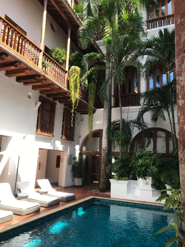 The courtyard and pool at Casa San Agustin- our go-to spot for post-walk cool down and pre-dinner cocktails.