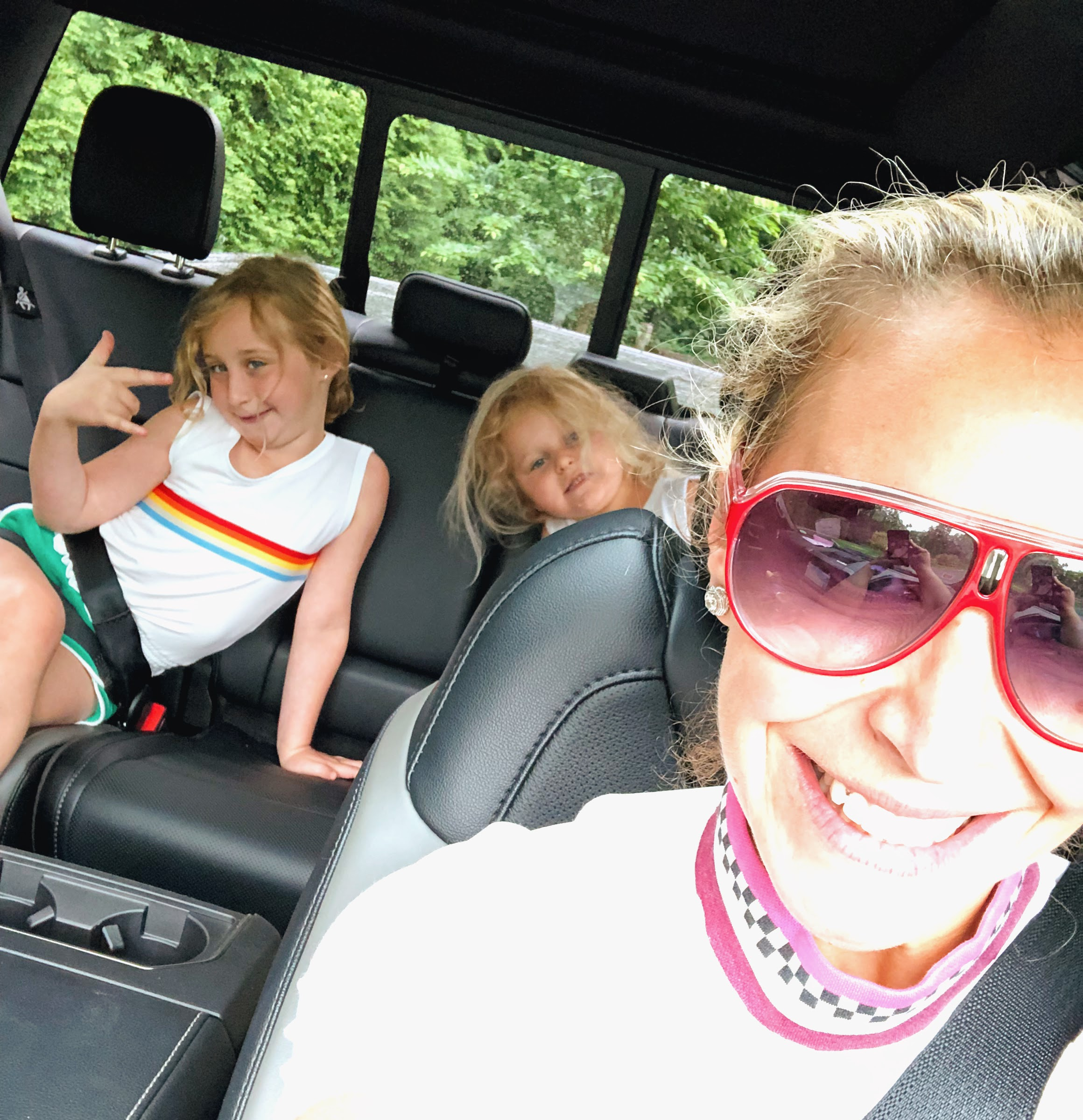 On the way to camp drop off Monday morning, coming off an epic (but exhausting!) long holiday weekend- in some ways worse for the wear, but in most ways, so grateful for every crazy moment.