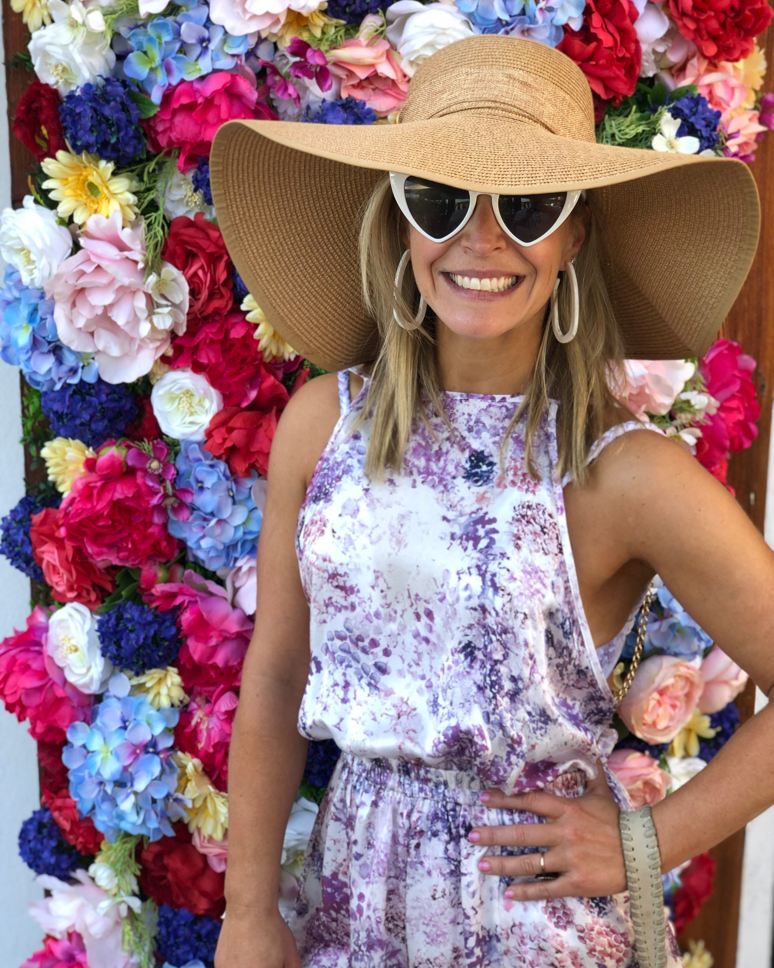 Ibiza Uniform:  Oversized sun hat ,  heart sunnies  (obv.) and chic coverups- this one is from a Portuguese brand I discovered in Newport, RI of all places-  Sinesia Karol .