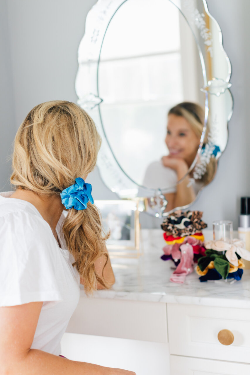 These scrunchies  are flawless, you guys. And you can get a dozen for $10!