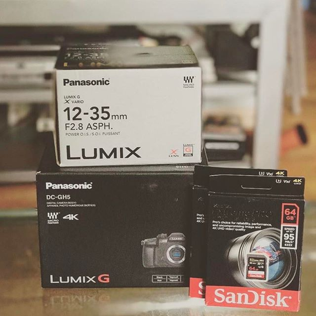 We have added a new camera to the Dreamt Family thanks to @kevinnuge . As we grow, so does our gear. #panasonic #lumix #gh5 #lumixgh5 #filmmaker #filmmaking #director #filmproduction #camera #sandisk #dreamtrealities