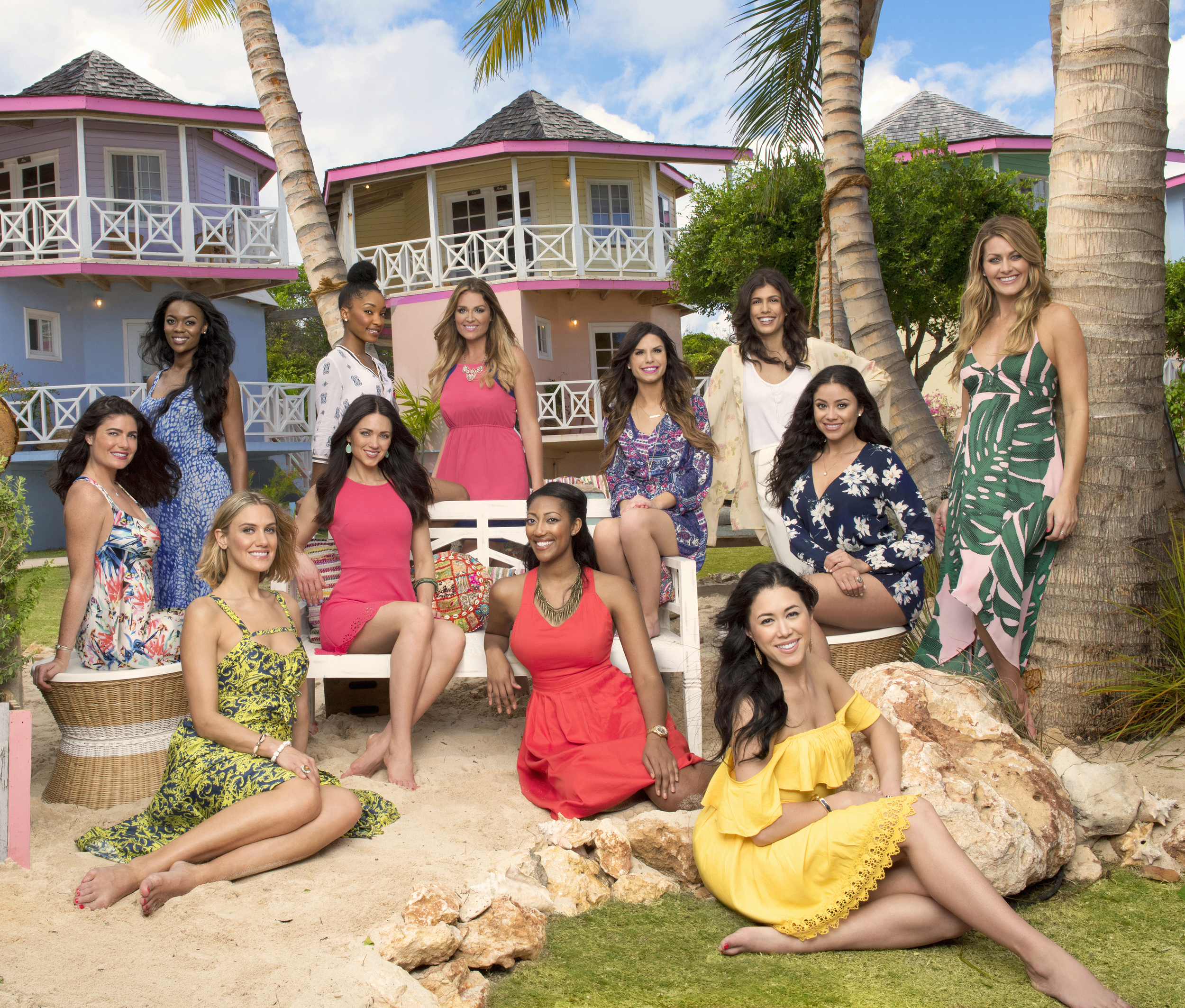 The beautiful women of Coupled in front of the villas in Anguilla.  Picture...PERFECT.