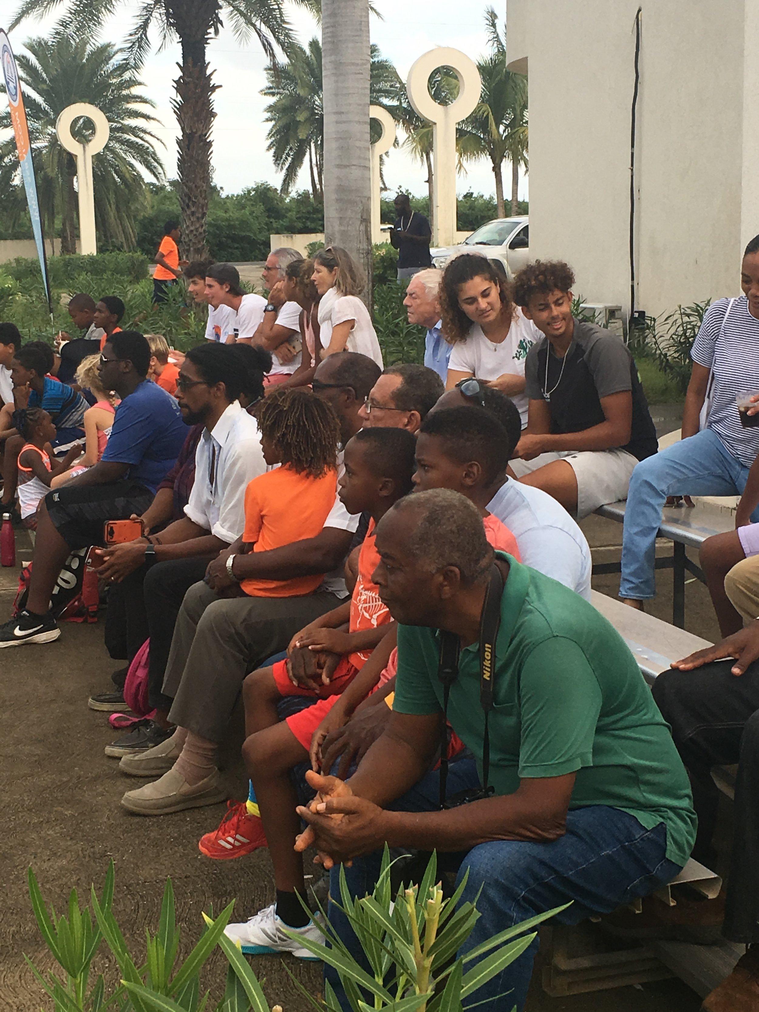 Spectators at Anguilla Cup  Pro Exhibition Match