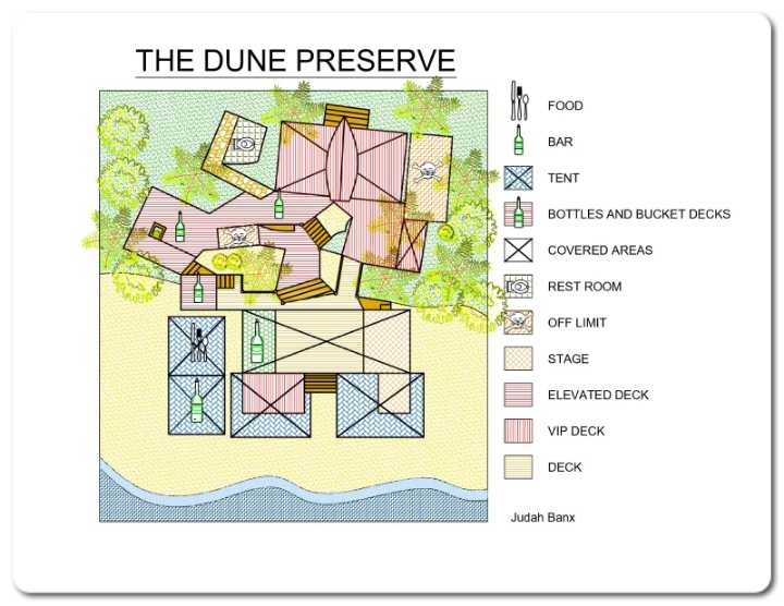 Map of The Dune Preserve