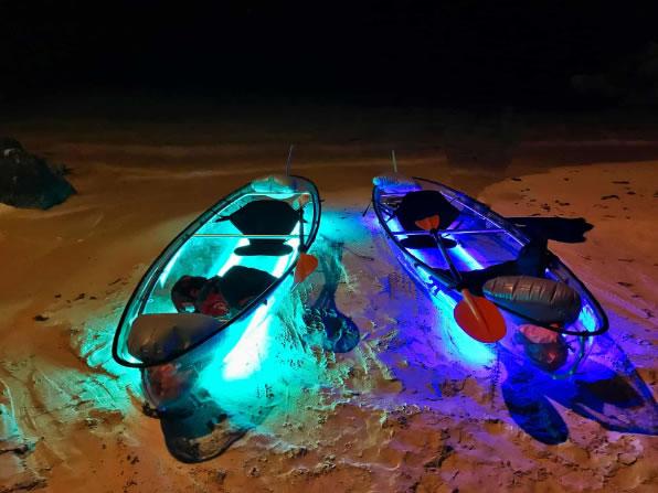 Liquid Glow Clear Bottom Glowing Kayaks