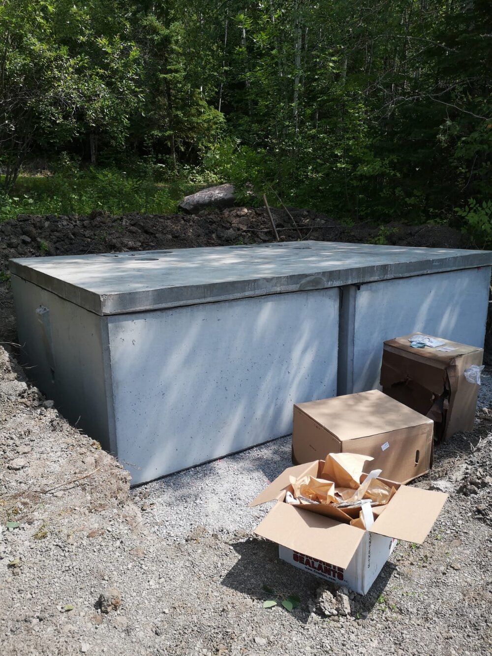 Golf Course outhouse holding tanks and base (Ontario)