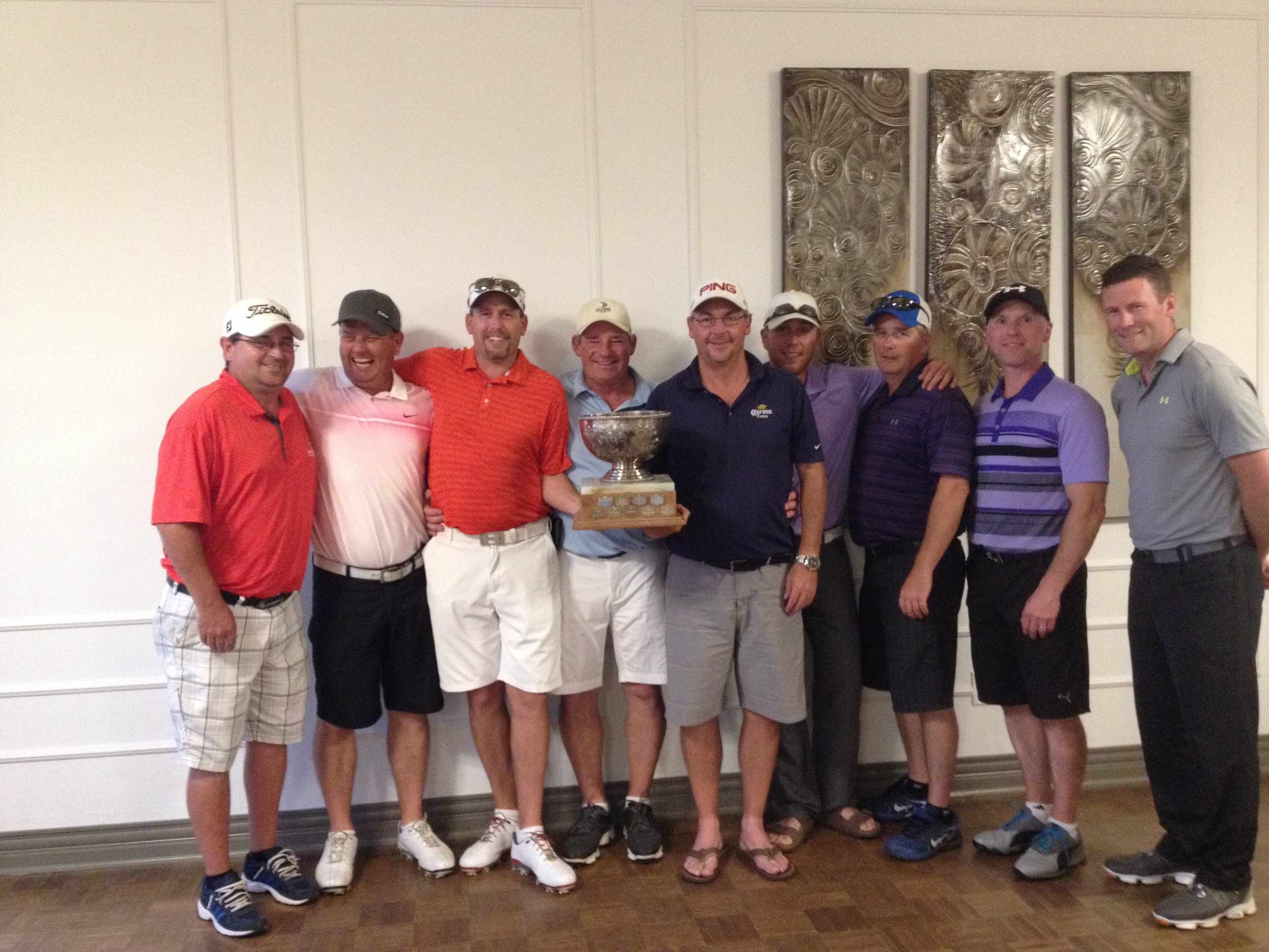 From left to right; Darwin McAllister, Rob Maltby, Eric Babin, Pat Flanagan, Kevin MacAllister, Nigel Flett, Ted Carroll, Greg Savoy and Ryan Tracy. Absent are Edgar Daigle, Mark Dunnett, Brad Regan and Sean Losier.