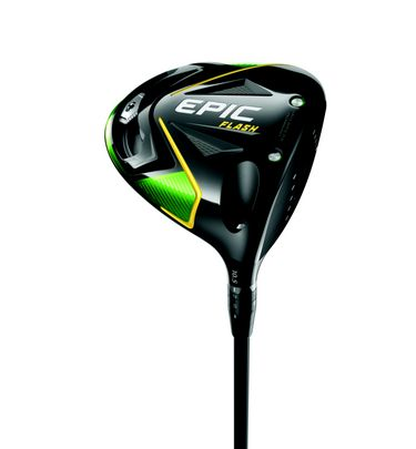 The new Epic Flash driver employs a new Callaway technology called Flash Face to help golfers get more ball speed for more distance. That great feeling you get when you make a good swing and crush one off the tee? Flash Face makes the ball go faster and farther.  Epic Flash also benefits from Callaway's proven Adjustable Perimeter Weighting, with a 16-gram sliding weight that can be easily positioned anywhere on the built-in track at the rear of the clubhead. The golfer can promote draws, fades or a straighter flight by positioning the weight in different places on the track.   Features & Benefits New Flash Face Technology for Faster Ball Speed  Callaway engineers used Artificial Intelligence and Machine Learning to create a radically different face design to promote faster ball speed in the center region of the face.  Jailbreak Technology for Faster Ball Speed Internal Jailbreak bars stiffen and stabilize the crown and sole, placing more impact load on the face to promote faster ball speed.  New T2C Triaxial Carbon Crown Material for Higher MOI A new lighter triaxial carbon fabric called T2C has a tighter weave; the weight it saves is redistributed within the head to raise MOI for exceptional forgiveness on off-center hits.  Adjustable Perimeter Weighting for Ball Flight Control Sliding 16-gram weight gives golfers the power to easily promote draws, fades or a straighter flight.