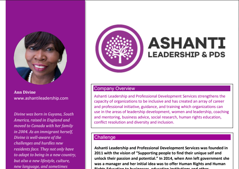 CEED Case Study - A case study on Ashanti Leadership & PDS by the Centre for Entrepreneurship Education and Development.