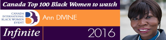 Ann Divine wins Canada Top 100 Black Women to Watch award   -