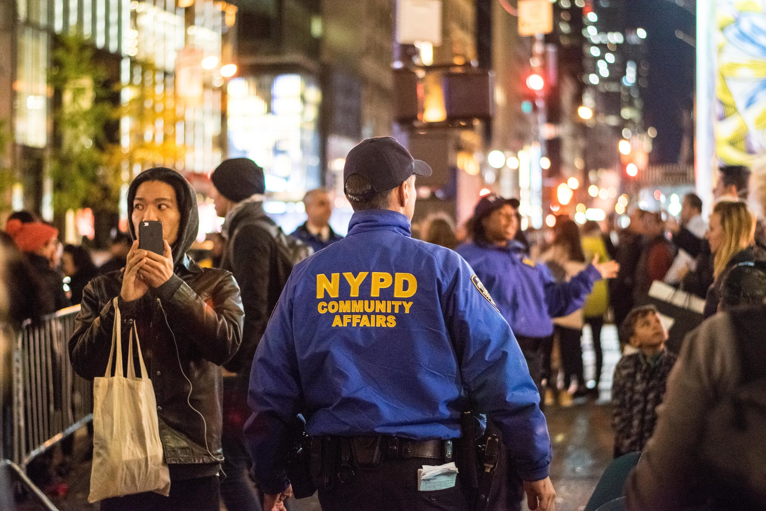 2016-NYC-New-York-Trump-Protest-March-Police-NYPD-Cops-Community-Affairs