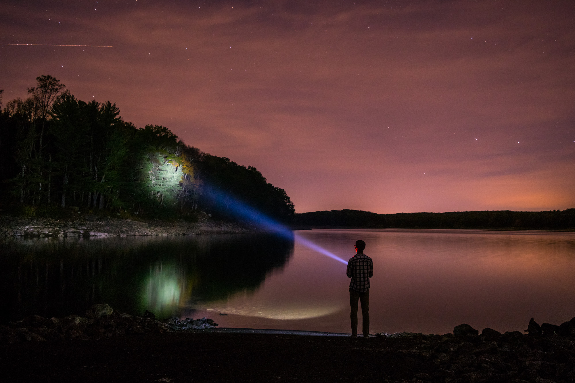 Saugatuck Reservoir in Weston, Connecticut.