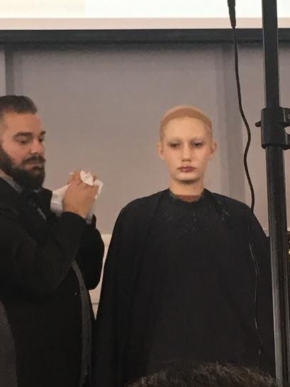 Chris Milone designing a 1930's makeup look.