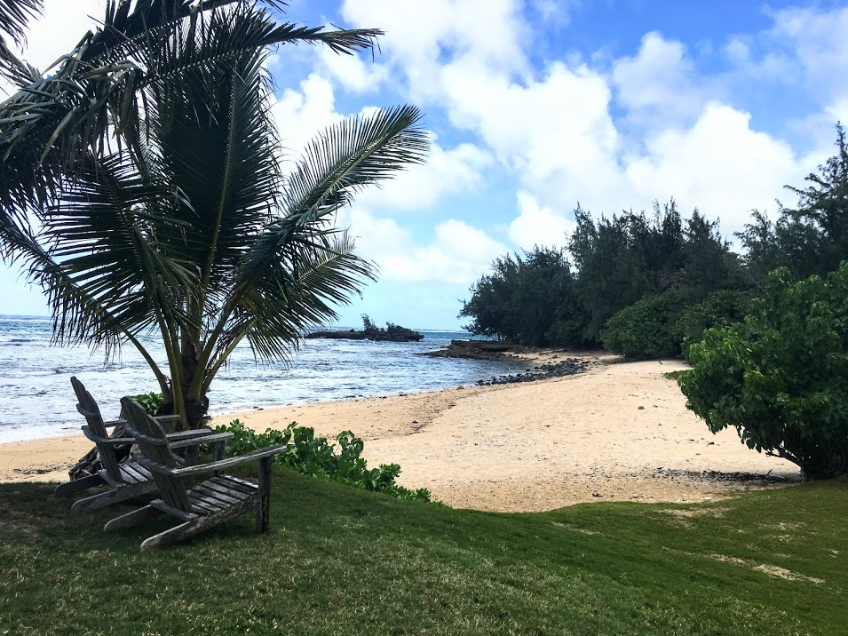 Take a seat and soak in the views of the private beach.