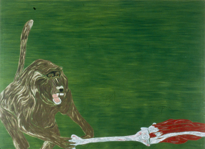 "Baboon  1982 • Oil on canvas, 72"" x 96"
