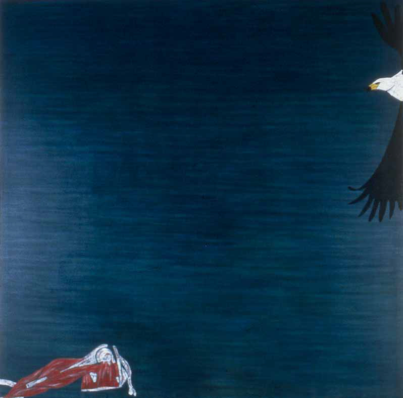 "Fish Eagle  1982 • Oil on canvas, 96"" x 96"