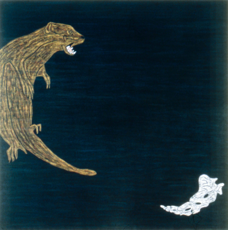 "Mongoose  1982 • Oil on canvas, 66"" x 66"