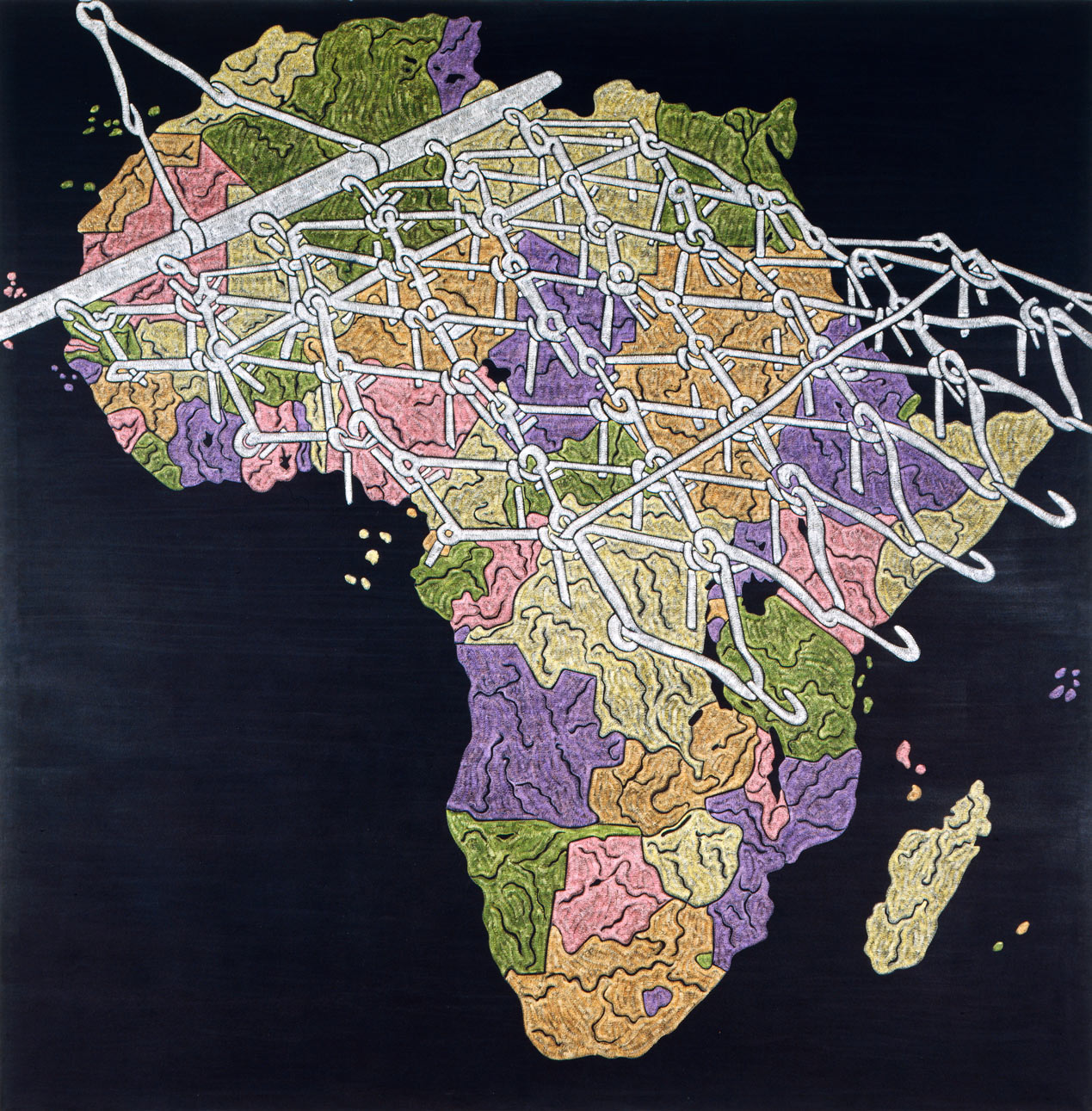 "Africa  1983 • Oil on canvas, 108"" x 108"