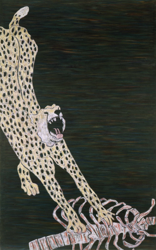 "Cheetah  1982 • Oil on canvas, 96"" x 60"
