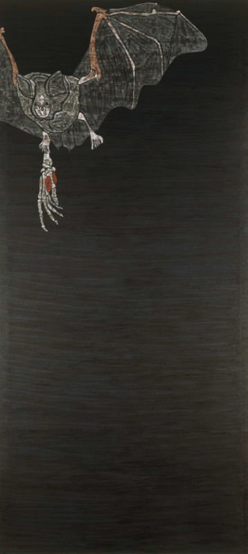 "Bat  1982 • Oil on canvas, 120"" x 54"