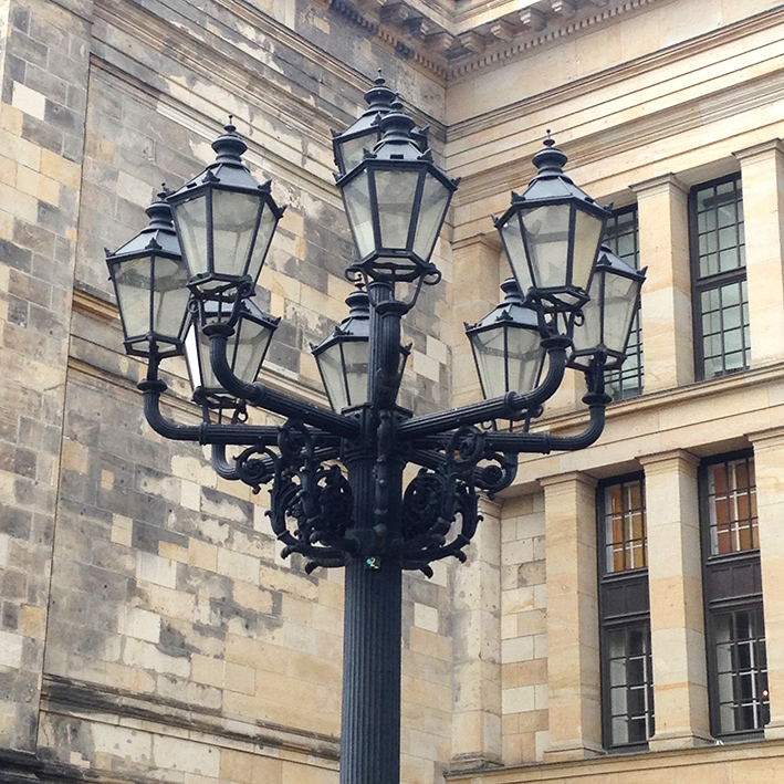 Lamps outside the Konzerthaus