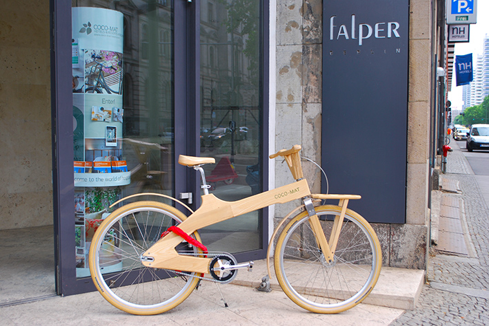 Coco Mat Berlin wooden bicycle