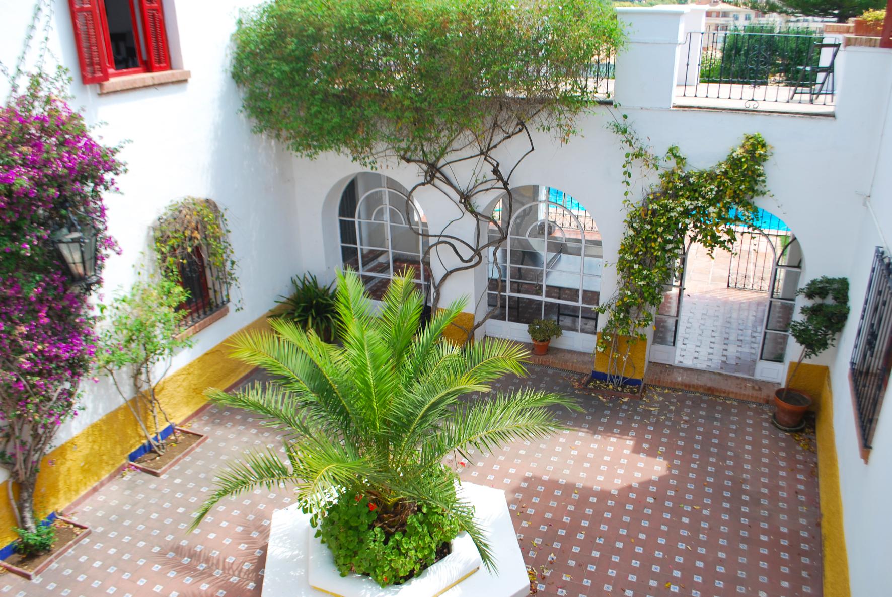 The central courtyard of Hacienda Clavero
