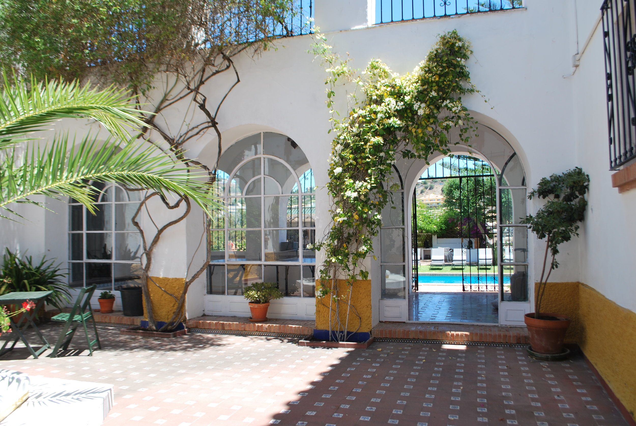 The Hacienda is designed so that all the arches line up in perfect symmetry.
