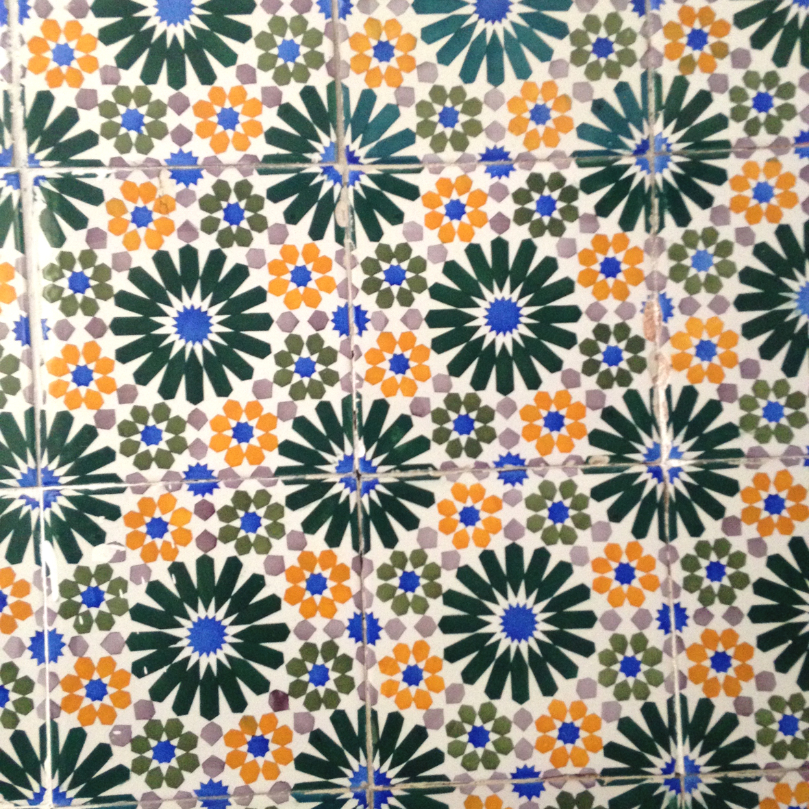Even the laundry room isn't left out with these retro-feel tiles!
