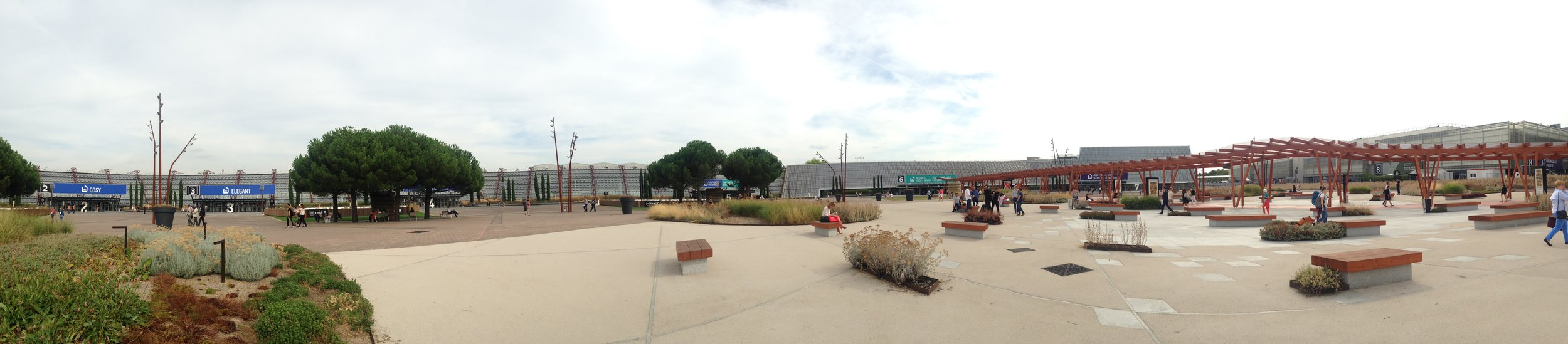 Panoramic of Parc des Expositions, Paris where Maison&Objet is held.
