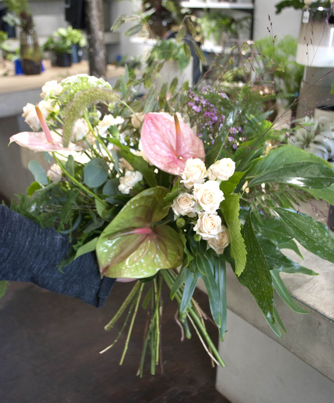 An arrangement by Lucy - one of Grace & Thorn's florists