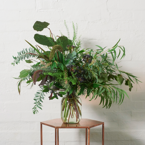 Grace and Thorn's  Keeping It Green  shows how foliage can make an impact all on its own. Image Credit: Grace & Thorn