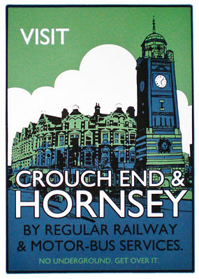 A vintage poster by London Transport - no underground station, but still an awesome place to live!