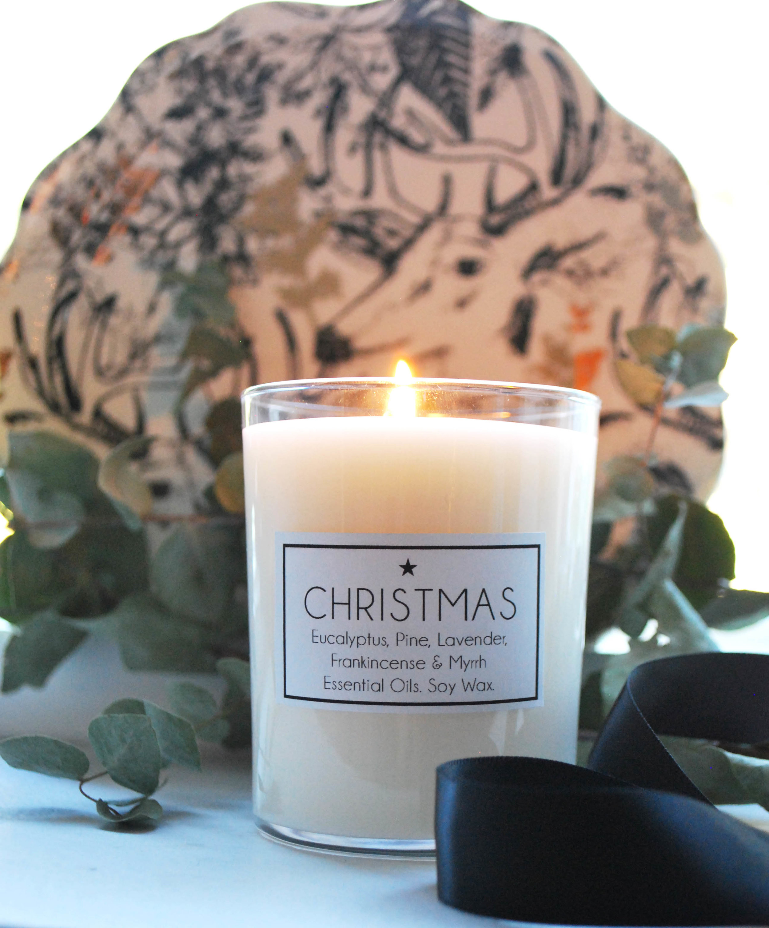 DIY Christmas Scented soy wax candles